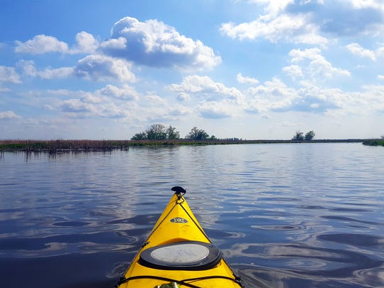 Kayaking or canoeing is one of the best ways to see
