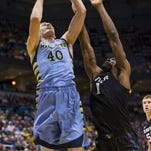 Marquette center Luke Fischer averages about 29 minutes but was held to 24 in Game One against Xavier because of foul trouble. His ability to stay on the court could impact Saturday's noon rematch at Cintas Center.