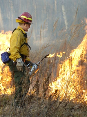 "Trained fire crews will set ""prescribed"" fires on Wisconsin Department of Natural Resources property this spring if conditions allow."