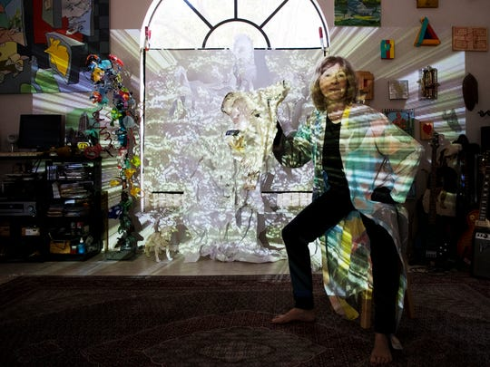 Artist Lily Hatchet at her Fort Myers home.