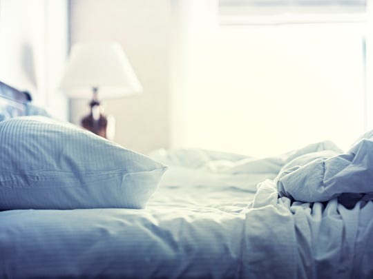 Hotel Bed, White Sheets, Morning After