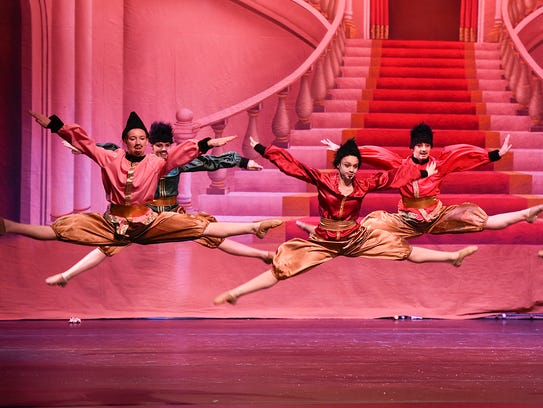 Dancers perform the Russian Dance during the Stroia
