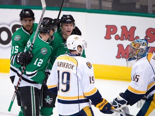 NHL: Nashville Predators at Dallas Stars