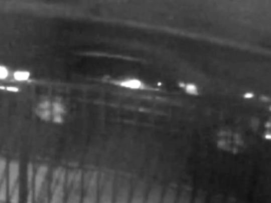 A still from a video shows the car of the two men who