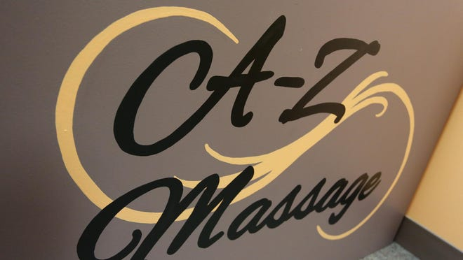 A sign greets visitors at A-Z Massage in Marshfield.
