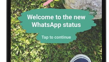 The revamped Status feature in WhatsApp.