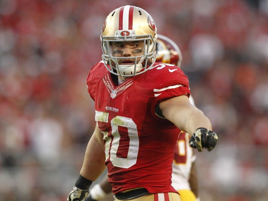 49ers linebacker Chris Borland in 2014.