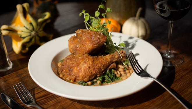 Fried chicken at the New Albany Exchange + Pub