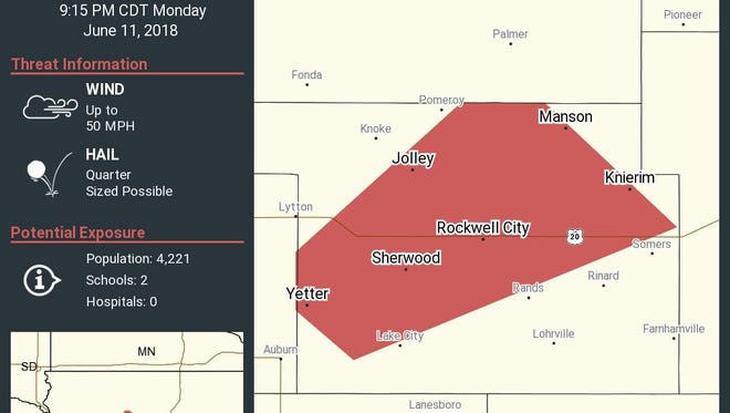 Tornado watches have been issued in 15 Iowa counties.