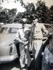 Don Schrock (left) and his brother Lester, who served