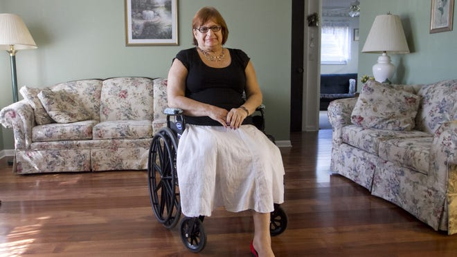 Diane Schroeder discovered her house's foundation was sinking during a bathroom remodel.