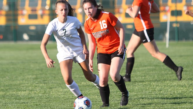 Alexis Shatrau (16) is a key player for a Brighton soccer team that is ranked No. 2 in the state and has allowed only five goals in 14 games.