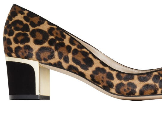 Thinking of it like a neutral, that's the key is to wearing animal print. Ann Taylor leopard print round toe pump, $148, Ann Taylor shops nationwide and anntaylor.com (Ann Taylor)