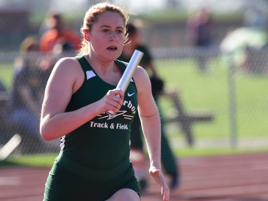 Oak Harbor established a meet record in the 4x400 relay Tuesday.
