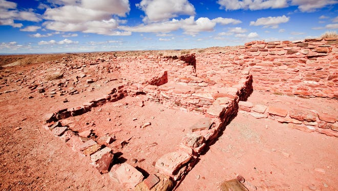 Occupying land north of Winslow that is sacred to Hopis, Homolovi State Park preserves ruins, petroglyphs and other artifacts.