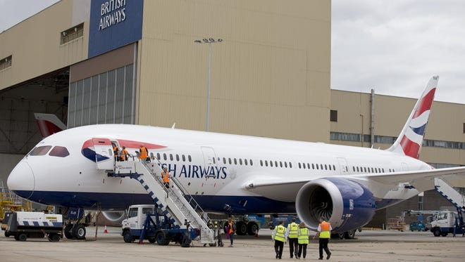 A British Airways Boeing's 787 Dreamliner is parked at Heathrow Airport in London on July 4, 2013. B
