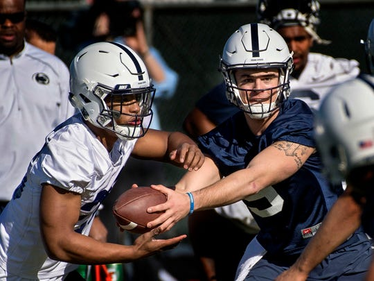 Once again, a huge game should turn on the decision making of QB Trace McSorley (right). One USC star said his defense hasn't faced a combination like McSorley and tailback Saquon Barkley (left) all season.