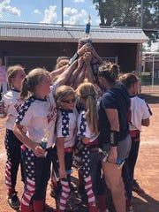 The Battle Creek Elite 9U fastpitch softball team recently