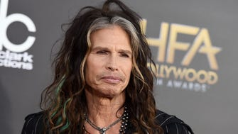 "FILE - In this Friday, Nov. 14, 2014, file photo, Steven Tyler arrives at the Hollywood Film Awards at the Palladium, in Los Angeles. Aerosmith frontman Tyler is asking Republican presidential candidate Donald Trump to stop using the power ballad ""Dream On"" at campaign events. (Photo by Jordan Strauss/Invision/AP, File) ORG XMIT: LA201"