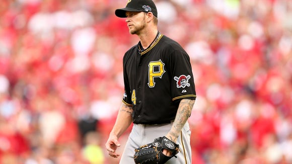 A.J. Burnett signed with the Phillies on Wednesday, providing an exclamation point to Ruben Amaro's offseasoni.  (Photo by Elsa/Getty Images)