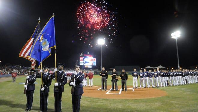 Auburn plays Alabama in the Capital City Classic at Montgomery's Riverwalk Stadium on Tuesday, March 6, 2012. (Montgomery Advertiser, Amanda Sowards)