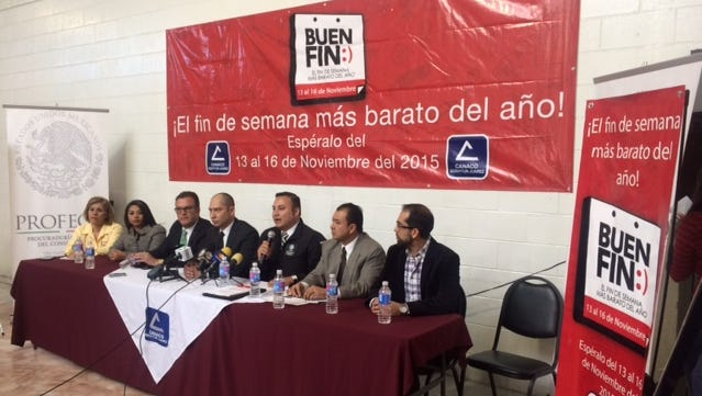 Business and government representatives announced on Tuesday the start of El Buen Fin this weekend.