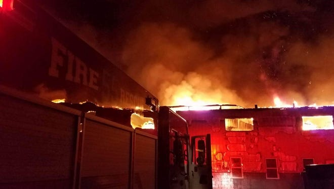 The Sunnyburn Welding shop on Telegraph Road in Lower Chanceford Township burned down on Jan. 31, 2017. (Photo courtesy of South County Fire Photos)