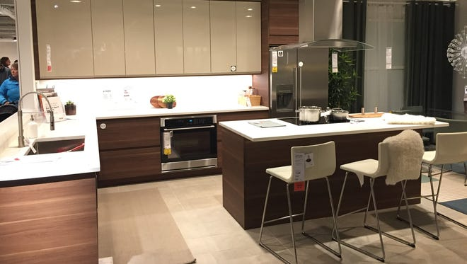 A sample kitchen setup in the Ikea store in Minneapolis during a recent trip by Modern Sioux Falls owners Jeff and Kristin Hayward.