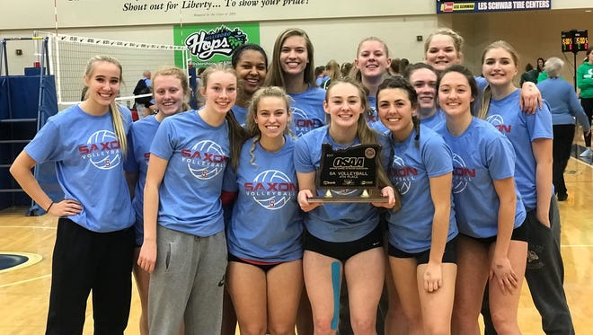 South Salem's volleyball team placed fourth in the state tournament.