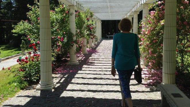 The Yaddo artist colony near Saratoga Springs, N.Y., and the race track offers rosy gardens to the public.
