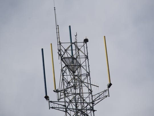 Cell phone tower located at the State Police headquarters