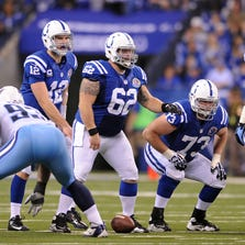 A.Q. Shipley playing for the Colts in 2012.