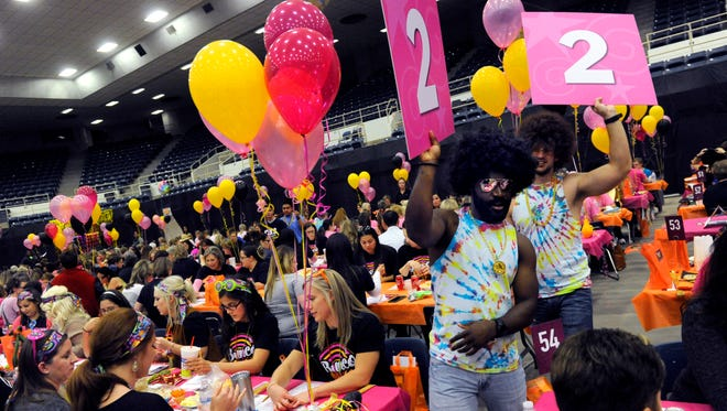 More than 1,500 people gathered to play bunco during the 2017 Bunco for Breast Cancer at the Taylor County Coliseum.