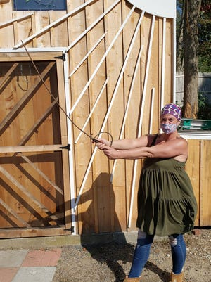 Plymouth resident Carrie Hadaway discovered a 19th-century fencing sword.