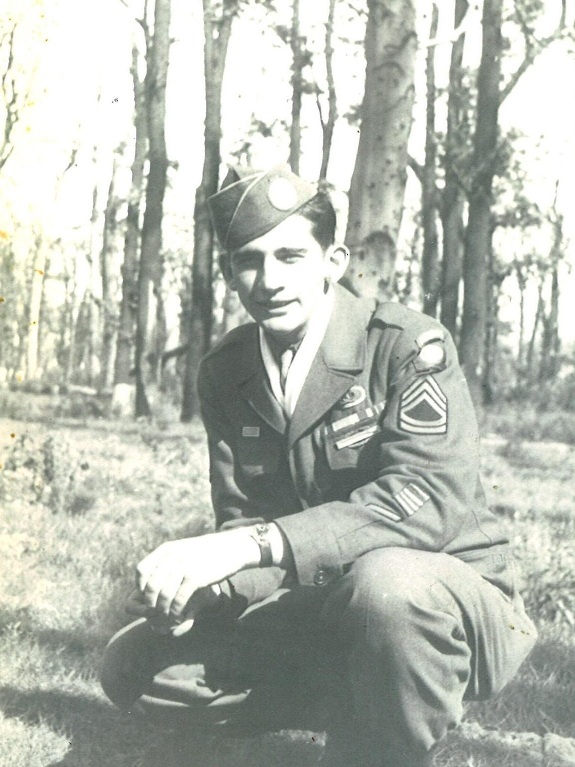 Bud Olson of Choteau in Berlin as a member of the 82nd