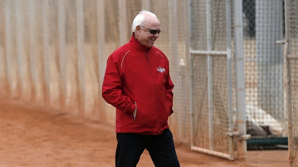 Reds general manager Walt Jocketty at spring training in February.