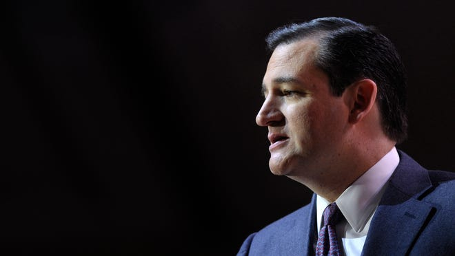 """WASHINGTON, DC - JANUARY 12:  U.S. Sen. Ted Cruz (R-TX) addresses the second annual Conservative Policy Summit at the Heritage Foundation January 12, 2015 in Washington, DC. The theme for the summit this year is """"Opportunity for All, Favoritism to None.""""  (Photo by Alex Wong/Getty Images) ORG XMIT: 531981277 ORIG FILE ID: 461453574"""