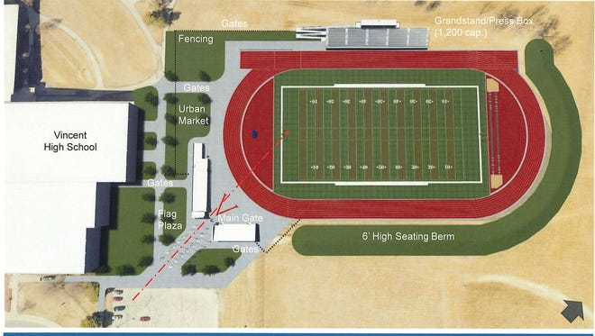 Milwaukee Public Schools will break ground Thursday on a new $5.7 million stadium at Vincent High School on the city's north side. The facility will include artificial turf for football and soccer, an eight-lane track, seating for 1,200, restrooms, locker rooms and more.