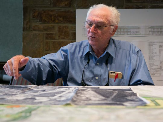 Former Cavaliers Country Club President Stan Minka attends a meeting with Carlino Commercial Development on Wednesday. Carlino is proposing a project on the golf course property.