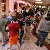 Shoppers make their way through the Red Cliffs Mall, home to some of the small, independently-owned retailers taking part in Small Business Saturday sales this weekend.
