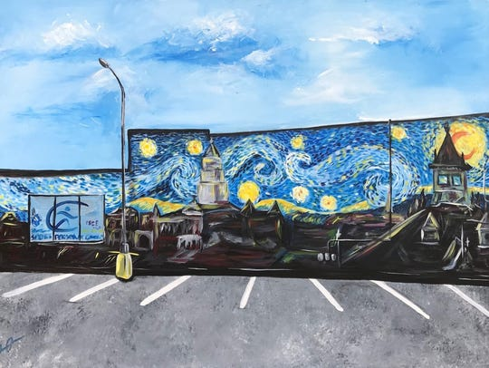 """""""Clarksville Starry Night"""" was designed by Olasubomi"""