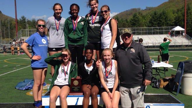 The Reynolds girls won last year's 3-A Western Regional track meet under former coach Bill Abromitis.