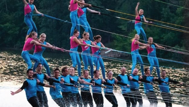 The Waterboard Warriors water ski demonstration will perform at 1:15 p.m. and 2:30 p.m. on the Sheboygan River during Lakeshore Weekend on Saturday.