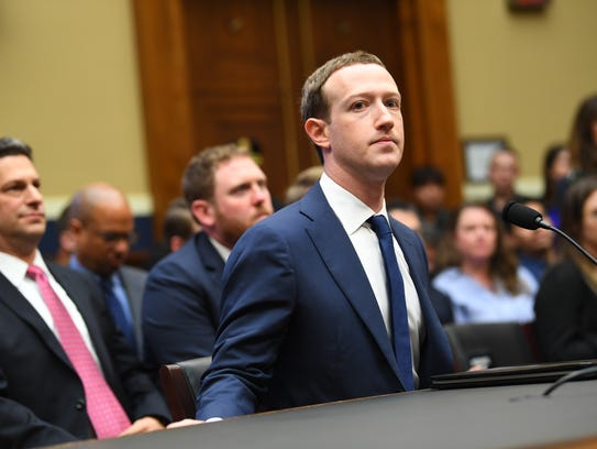 Facebook CEO Mark Zuckerberg arrives to testify before