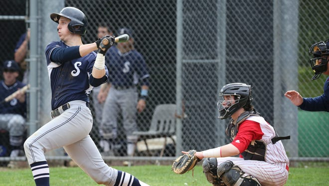 North Rockland defeats Suffern 7-2 during baseball game at North Rockland High School in Thiells May 9, 2017.