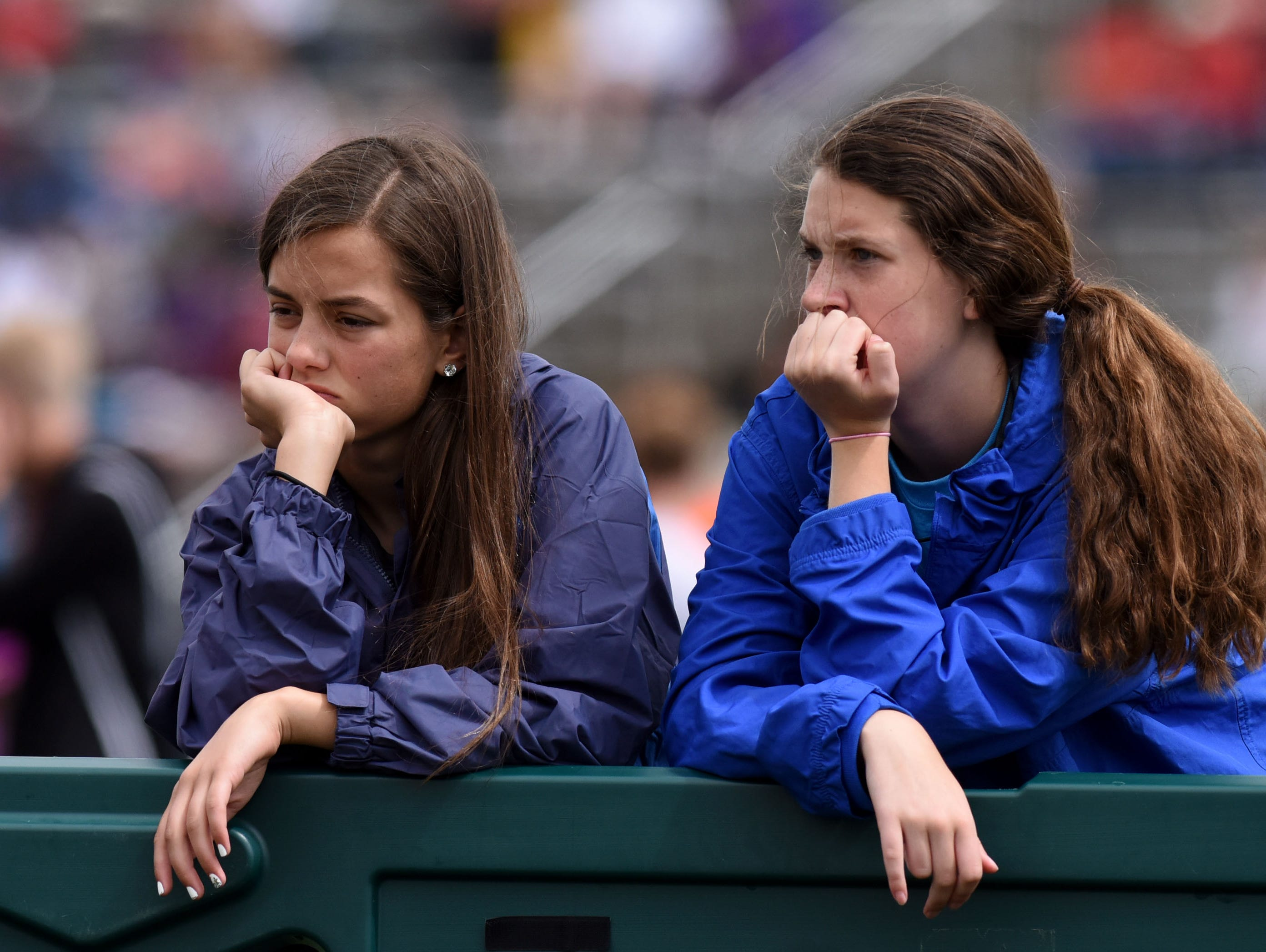 Spectators wait for the meet to start after a rain delay during the 2016 SD State Track and Field Meet at Howard Wood Field on Saturday, May 28, 2016.