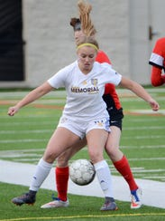 "Sophomore center midfielder Emma Westrick is ""the engine of our team,"" Catholic Memorial coach John Burke says."