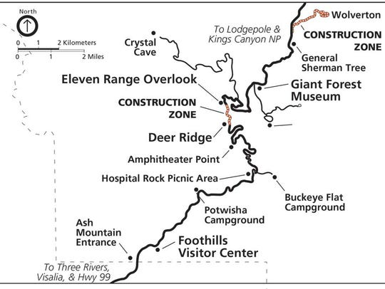 A map of the construction set to begin in mid-June
