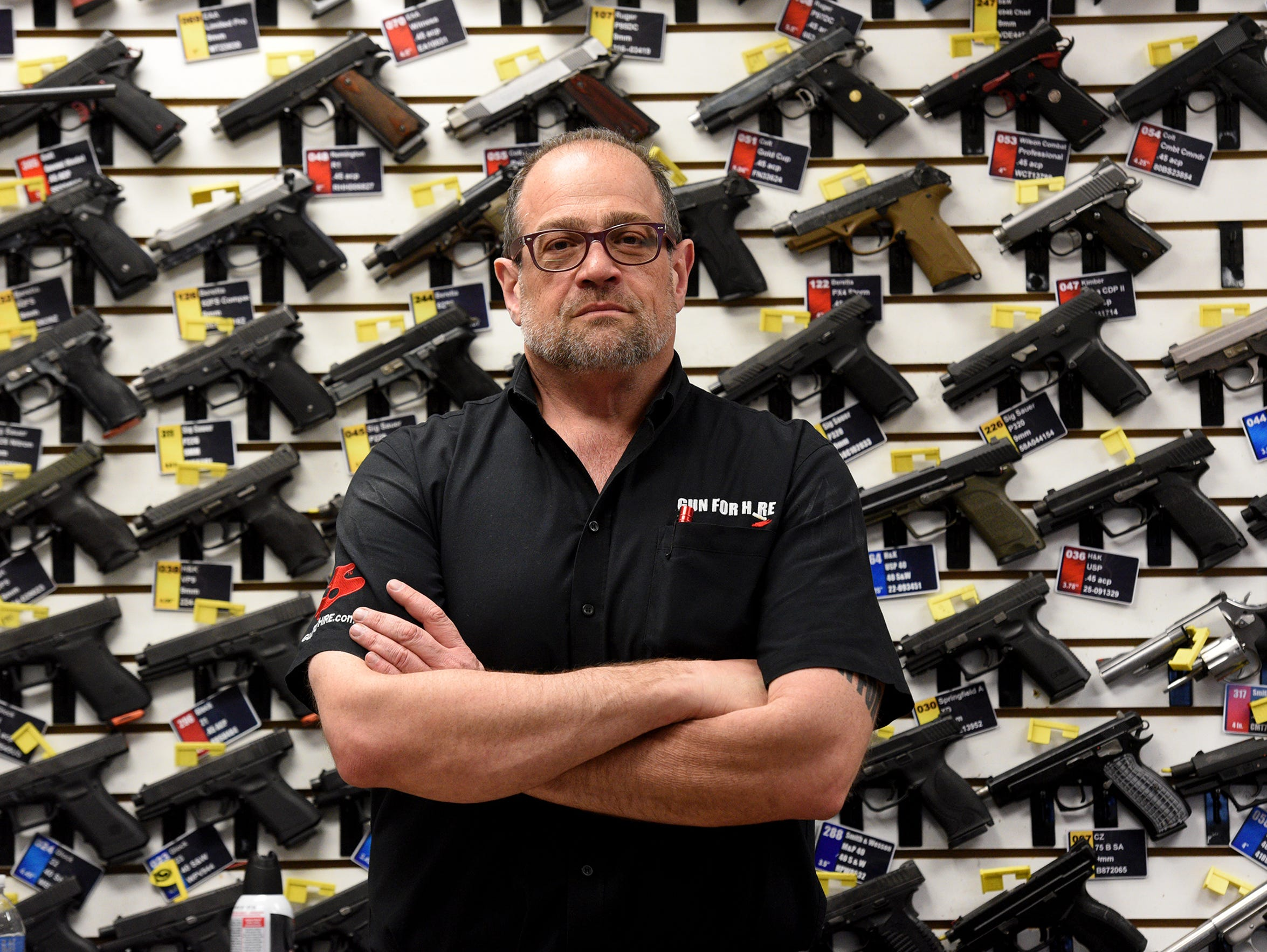 Anthony Colandro, founder of Gun For Hire at Woodland