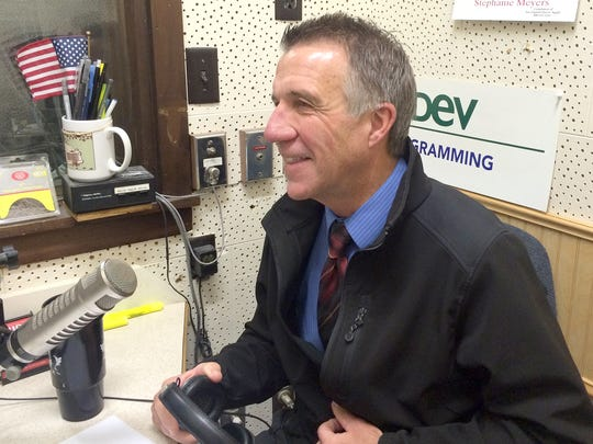 Phil Scott, incumbent Republican lieutenant governor, answers campaign questions in a WDEV radio interview during the final week before the Nov. 4 election.